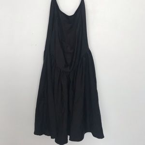 American Apparel Black Spandex skater dress